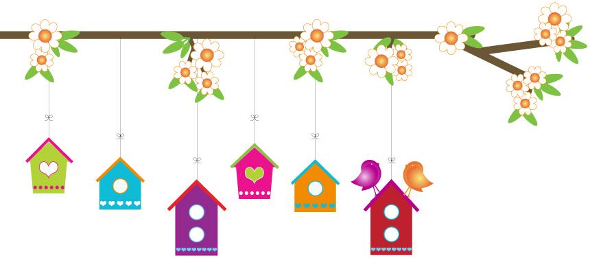 Chickadees-birdhouses